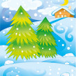 Winterlandschaft — Stockvektor  #58287595