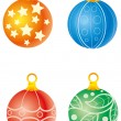 Christmas balls — Stock Vector #58287699