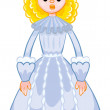 Princess from   fairy tale — Stock Vector #58287859
