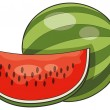Watermelon on white — Stock Vector #58287975