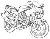 Sketch Motorcycle — Vettoriale Stock