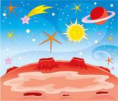 Bright fantastic landscape — Stock Vector