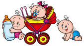 Cartoon babies — Stock Vector