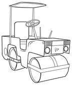 Paving Machine — Stock Vector