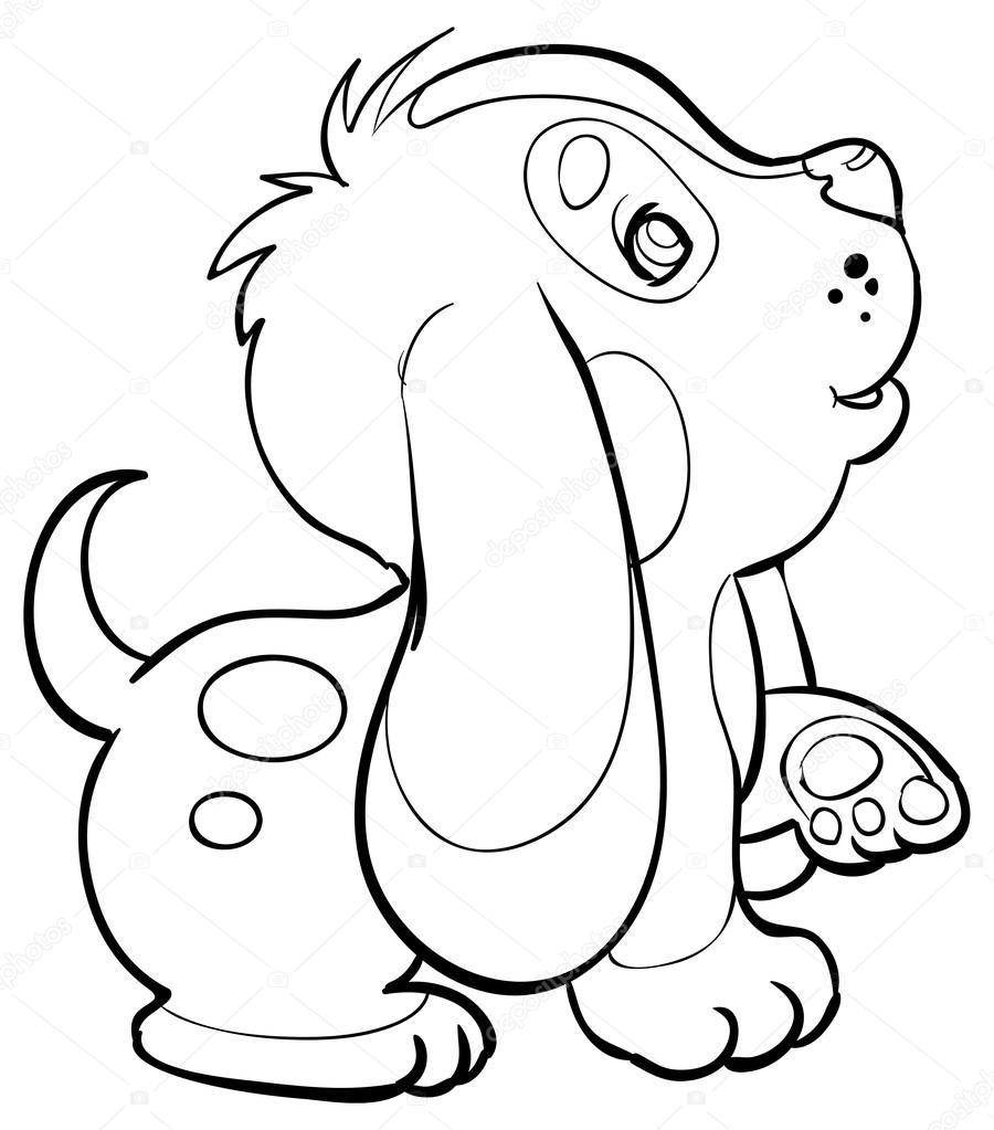 Petit chien de dessin anim image vectorielle kopirin 58287155 - Dessin de petit chien ...