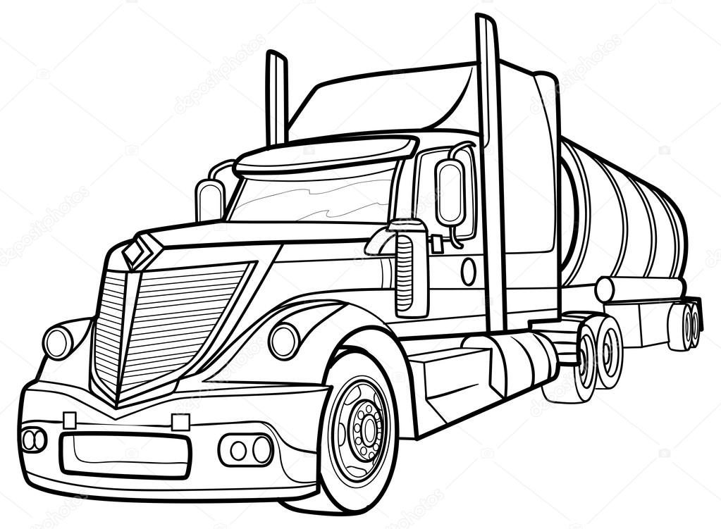 truck drawings and sketches