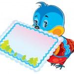 Cartoon blue bird — Stock Vector #59020871