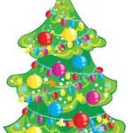 Cartoon Christmas tree — Stock Vector #59020927