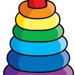 Pyramid toy Cartoon illustration — Stock Vector #64036975