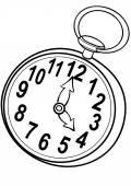 Clock Cartoon illustration — Vettoriale Stock