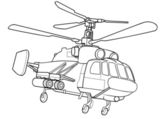 Outline Helicopter  illustration — Stock Vector