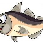 Cartoon happy Codfish — Stock Vector #68543467