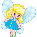Cartoon Happy fairy — Stock Vector #68547425
