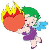 Happy baby angel — Stock Vector