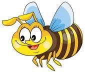 漫画幸せな蜂 — ストックベクタ