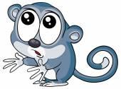 Cartoon funny Lemur — Stock Vector