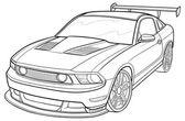 Wyścigi samochodów ilustracja — Wektor stockowy