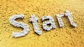 Pixelated Start — Stock Photo