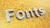 Pixelated Fonts — Stock Photo