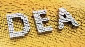 Pixelated DEA — Stock Photo
