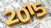 Financial year 2015 — Stock Photo