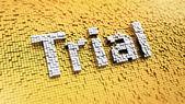 Pixelated Trial — Stock Photo
