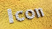 Pixelated Icon — Stock Photo