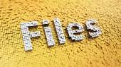 Pixelated Files — Stock Photo