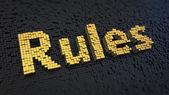 Rules cubics — Stock Photo