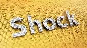 Pixelated Shock — Stock Photo