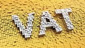 Pixelated VAT — Stock Photo