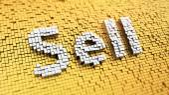 Pixelated Sell — Stock Photo
