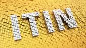 Pixelated ITIN — Stock Photo