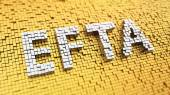 Pixelated EFTA — Stock Photo