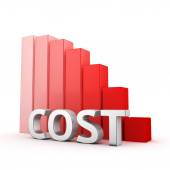 Recession of Cost — Stock Photo