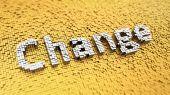 Pixelated Change — Stock Photo
