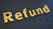 Refund cubics — Stock Photo