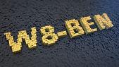 W8-BEN cubics — Stock Photo