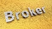 Pixelated Broker — Stock Photo
