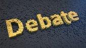 Debate cubics — Stock Photo