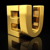 EU gold letters — Stock Photo