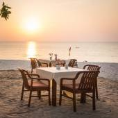 Restaurant with seaview — Stock Photo