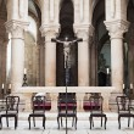 Alcobaca Monastery interior — Stock Photo #65488157