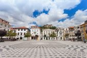 Central square, Leiria — Stock Photo
