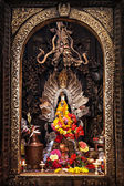 Altar in hindu temple — Stock Photo