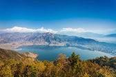 Phewa lake and Annapurna — Stock Photo