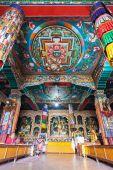 Inside buddhist temple — Stock Photo