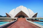 Lotus Temple, India — Stock Photo