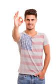Man signaling ok — Stock Photo