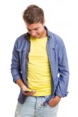 Man at the phone — Stock Photo